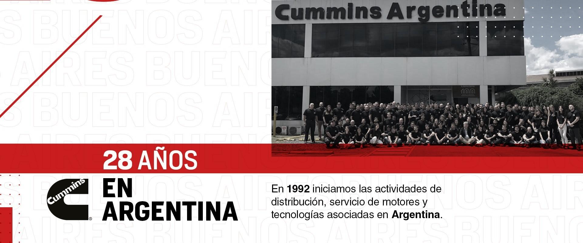 28 años de  Cummins Argentina