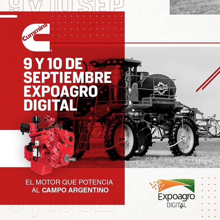 Cummins  Aplicación agricola, en Expoagro 2020